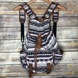 Aeropostale tribal Aztec southwest backpack vegan